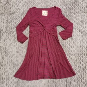 Lilka | Front Knot Knit Jersey Dress